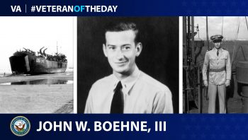 Navy Veteran John William Boehne III is today's Veteran of the Day.