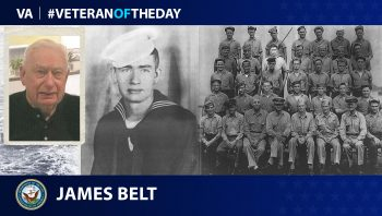 Navy Veteran James Belt is today's Veteran of the Day.