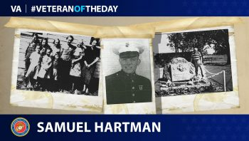 Marine Corps Veteran Samuel Franklin Hartman is today's Veteran of the Day.
