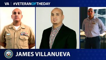 Navy Veteran James Villanueva is today's Veteran of the Day.