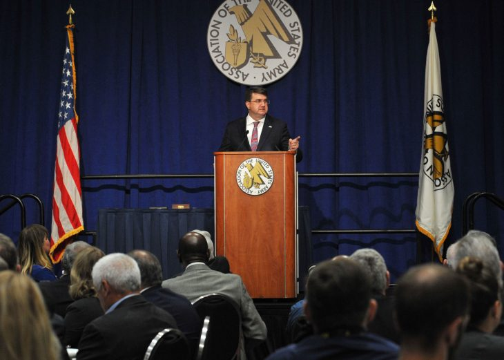 VA Secretary Robert Wilkie speaks at the Association of the United States Army conference Oct. 16, 2019.