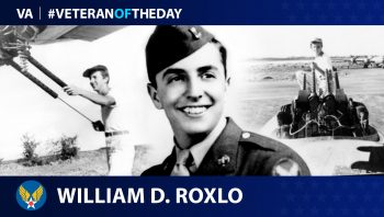 Army Air Corps Veteran William D. Roxlo is today's Veteran of the Day.