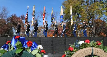 2019 Veterans Day event at the Vietnam Veterans Memorial in Washington, D.C.