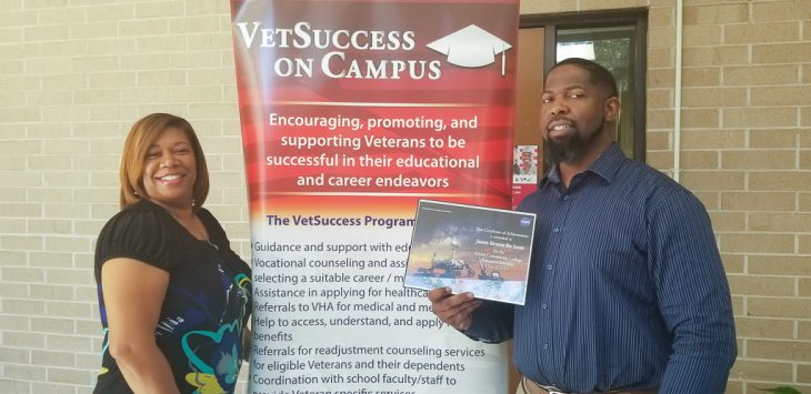 Jason Brown used VA's VR&E to attend NASA's Aerospace Scholars program.