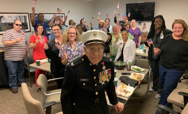 Photos of the Week: Col. Carl Cooper visits VA