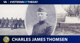 Army Veteran Charles James Thomsen is today's Veteran of the Day.