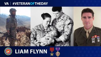 Marine Veteran Liam Flynn is today's Veteran of the Day.