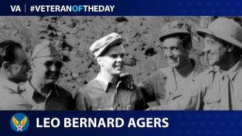 Army Air Force Veteran Leo Agers is today's Veteran of the Day.
