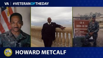 Army Veteran Howard Metcalf is today's Veteran of the Day.