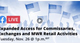 Expanded Access for Commissaries, Exchanges and MWR Retail Facebook LIVE Event