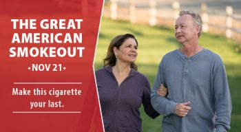 Great American Smokeout on Nov. 21