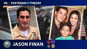Navy Veteran Jason Finan is today's Veteran of the Day.