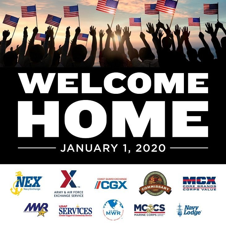IMAGE: Welcome Home Graphic with various DoD logos