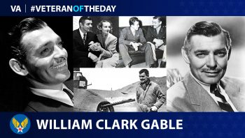 Army Air Corps Veteran William Clark Gable is today's Veteran of the Day.