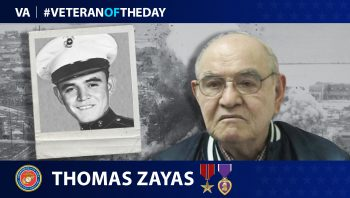 Marine Corps Veteran Thomas Zayas is today's Veteran of the Day.