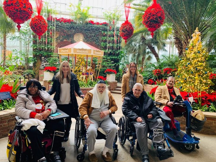 """""""Winter Flower Show and Light Garden"""" at Phipps Conservatory and Botanical Gardens."""