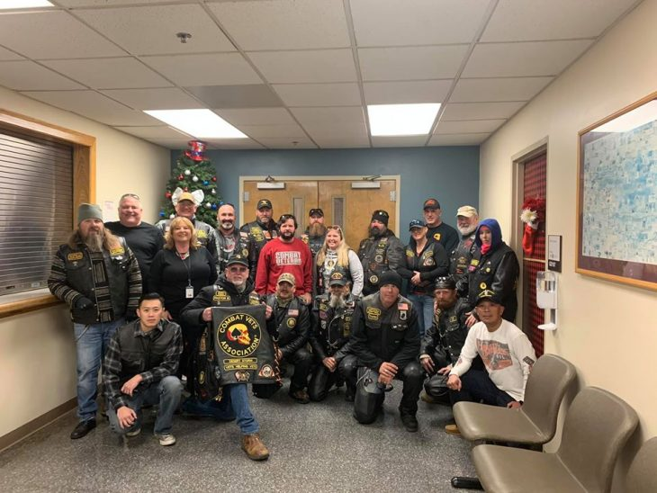 The Combat Veterans Motorcycle Association collected and donated winter items for homeless Veterans.