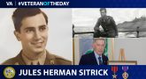Army Veteran Jules Herman Sitrick is today's Veteran of the Day.