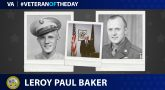 Army Veteran Leroy Paul Baker is today's Veteran of the Day.