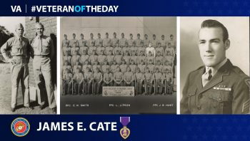 Marine Veteran James Cate is today's Veteran of the Day.