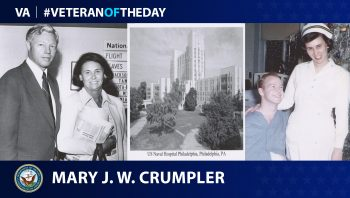 Navy Veteran Mary Jane Wilcox Crumpler is today's Veteran of the Day.