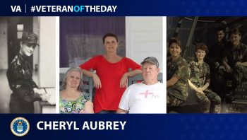 Air Force Veteran Cheryl Aubrey is today's Veteran of the Day.