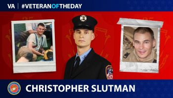 Marine Veteran Christopher Slutman is today's Veteran of the Day.