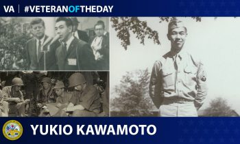 Army Veteran Yukio Kawamoto is today's Veteran of the Day.