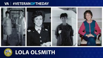 Army Veteran Lola Mae Rhoades Olsmith is today's Veteran of the Day.