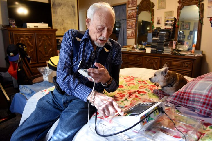 96-year old Veteran uses home telehealth program at North Texas VA.