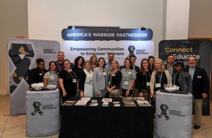 America's Warrior Partnership staff gathered for a photo