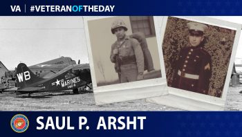 Marine Veteran Saul P. Arsht is today's Veteran of the Day.