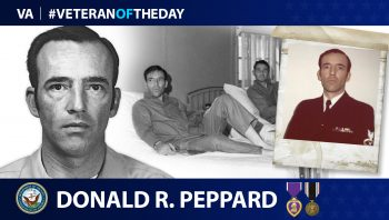 Navy Veteran Donald Richard Peppard is today's Veteran of the Day.