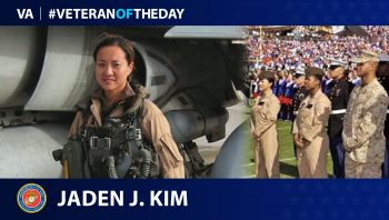 Marine Veteran Jaden J. Kim is today's Veteran of the Day.