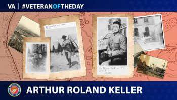 Marine Veteran Arthur Roland Keller is today's #VeteranOfTheDay.
