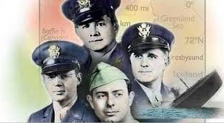Montage of photos of four Army chaplains