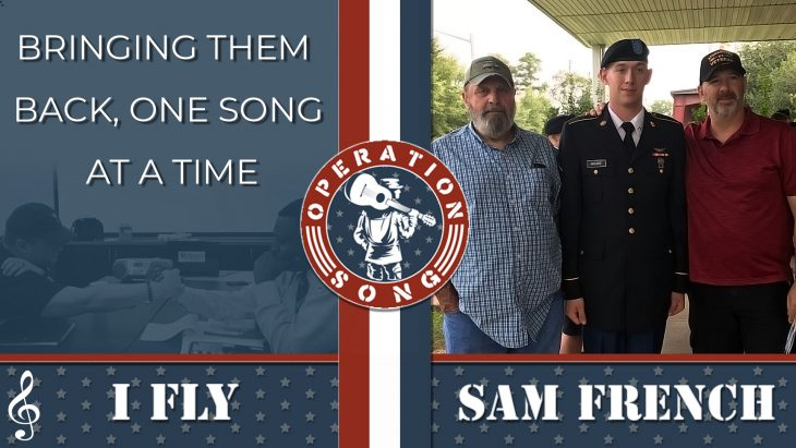 "Operation Song post featuring Sam French and his song ""I Fly."""