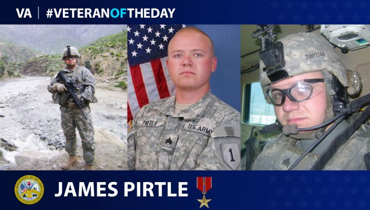 Army Veteran James Pirtle is today's Veteran of the Day.