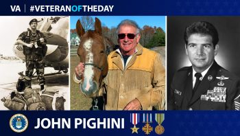 Air Force Veteran John Pighini is today's Veteran of the Day.