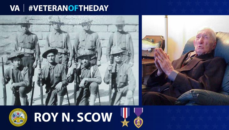 Army Veteran Roy N. Scow is today's Veteran of the Day.