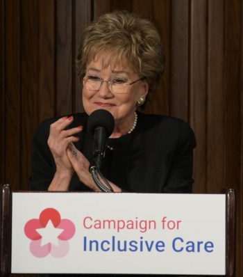 Sen. Elizabeth Dole speaks at the Campaign for Inclusive Care Academy event Jan. 31 at the National Press Club in Washington, D.C.