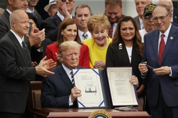 President Trump signed The Mission Act six months ago.