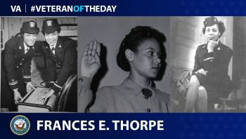 Navy Veteran Frances E. Wills Thorpe is today's #VeteranOfTheDay.