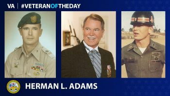 Army Herman L. Adams is today's Veteran of the Day.