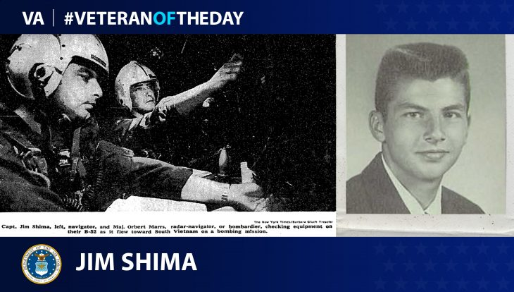 Air Force Veteran Jim Shima is today's Veteran of the Day.