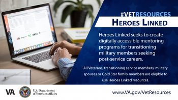 Heroes Linked offers online mentoring and career finding free to Veterans.
