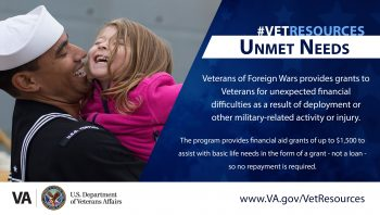 vfw unmet needs Navy father holding daughter