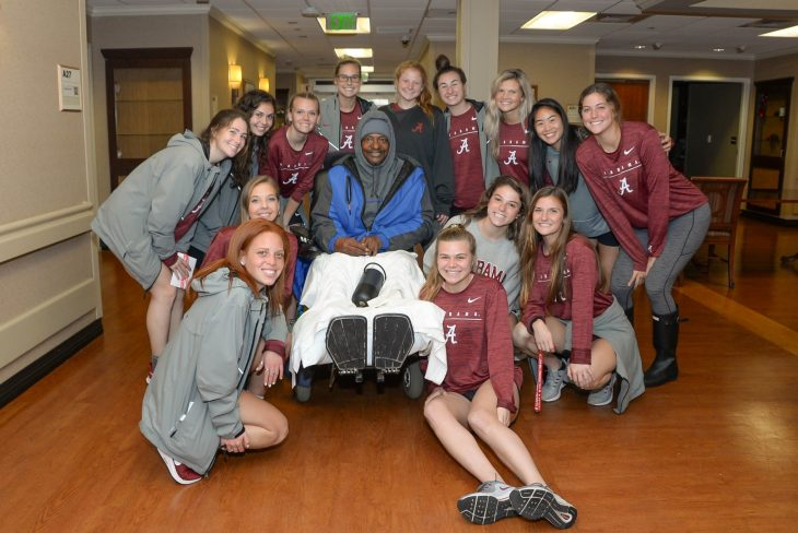 Alabama Women's Soccer Team visited Tuscaloosa VA this week.