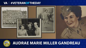 Army Veteran Audrae Gandreau is today's Veteran of the Day.