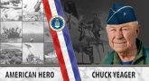 Chuck Yeager is an Air Force Veteran and the first person to break the sound barrier.